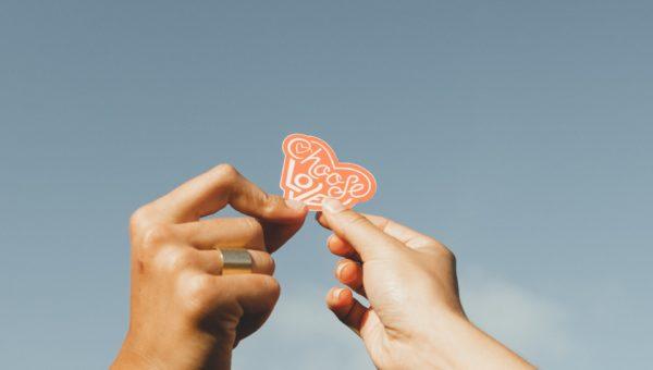 Валентинка за него
